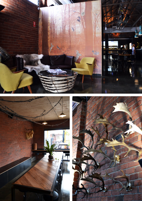 Slick industrial fit-out designed by Donna!